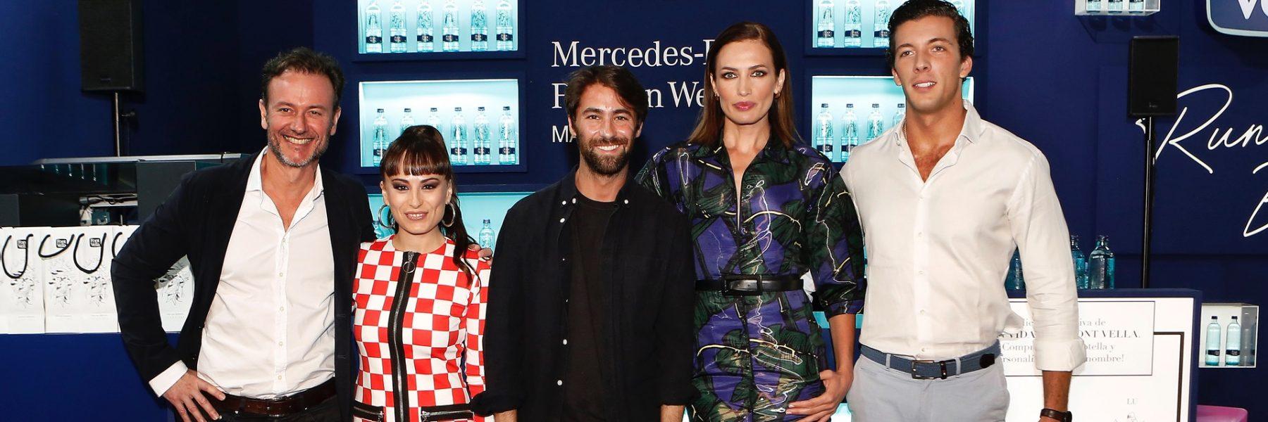 Nieves Álvarez deslumbra con un diseño de Juan Vidal en la MBFWMadrid