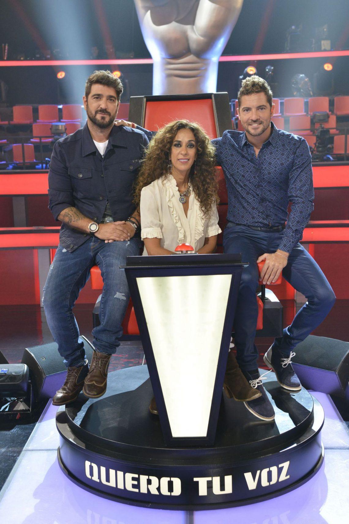 David Bisbal, Rosario Flores y Antonio Orozco inician las grabaciones de 'La Voz Kids 3'