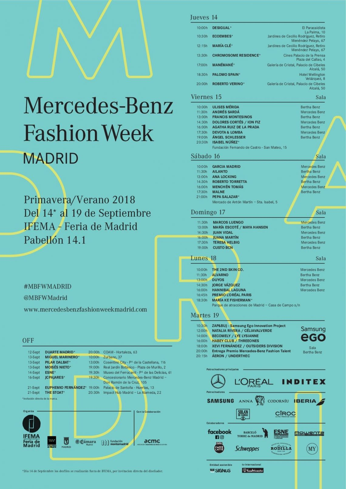 #Concurso La Universidad Francisco de Vitoria y Living Backstage te invitan a un desfile de Mercedes-Benz Fashion Week Madrid