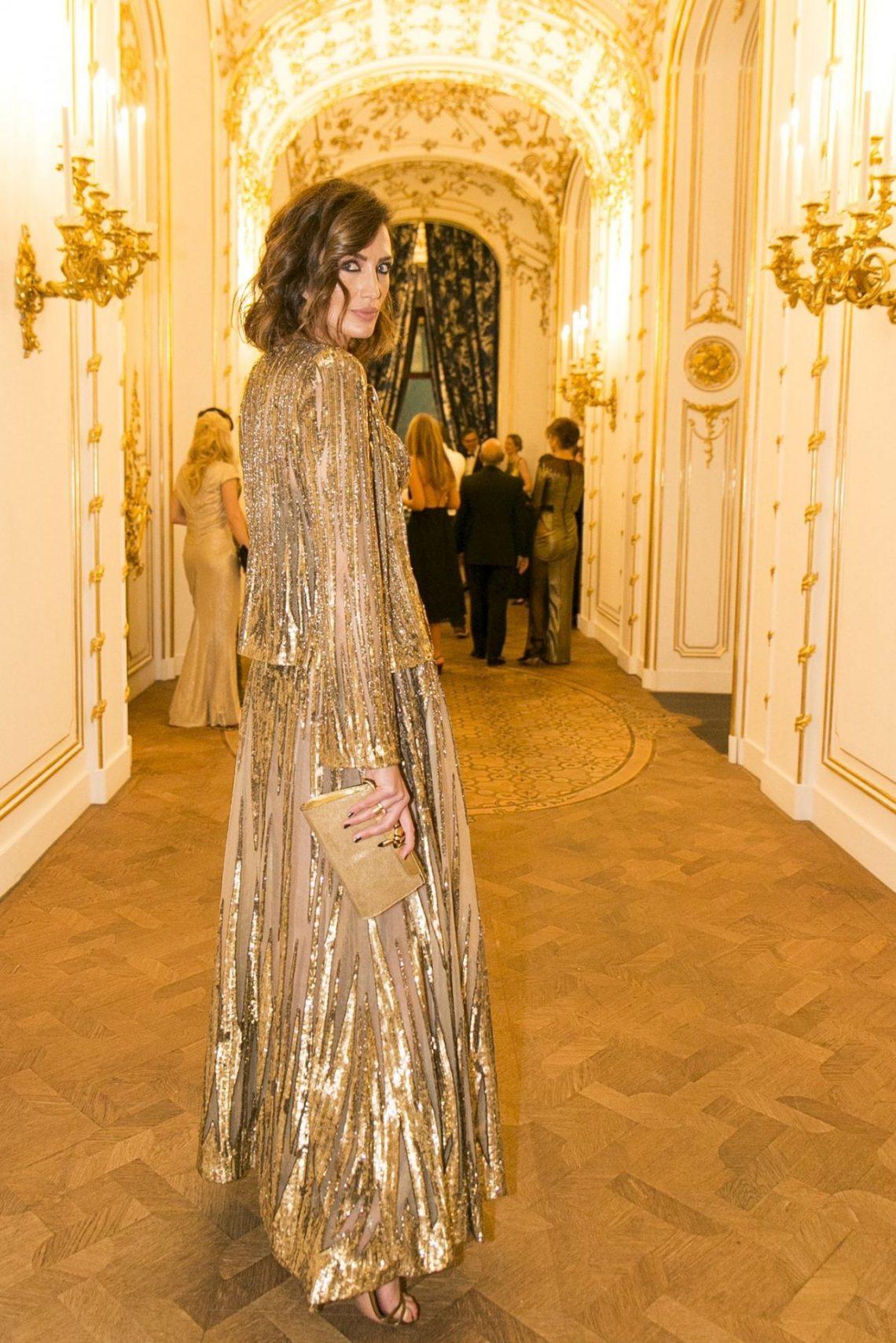 Nieves Álvarez deslumbra en Viena en la cena 'Woman in Gold'