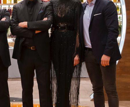 Así es el espectacular vestido que diseñó el modisto del momento para Eva González en su despedida de Masterchef