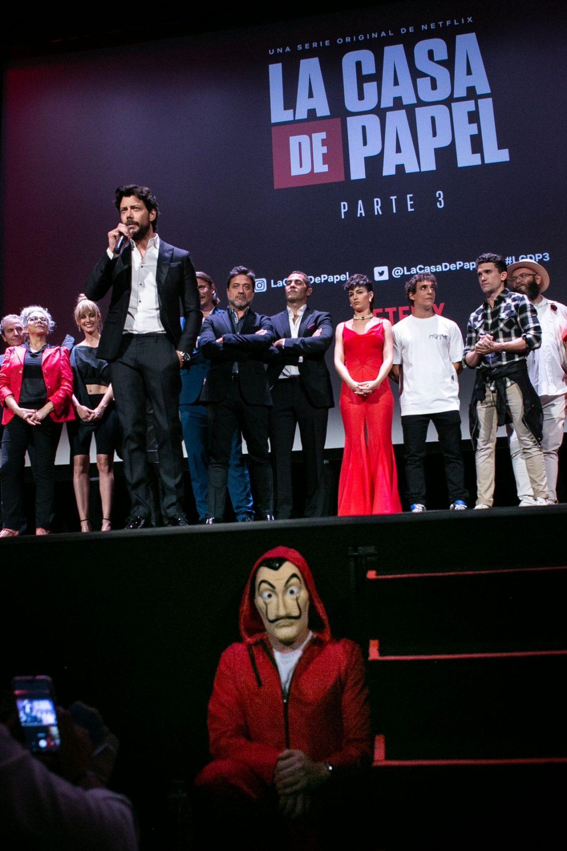 Netflix celebra en Madrid la premiere de 'La Casa de Papel' parte 3